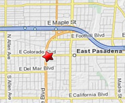 Map to Dr. Hong Kim, Pasadena Dentist